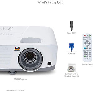 ViewSonic PA503S 3800 Lumens SVGA Projector