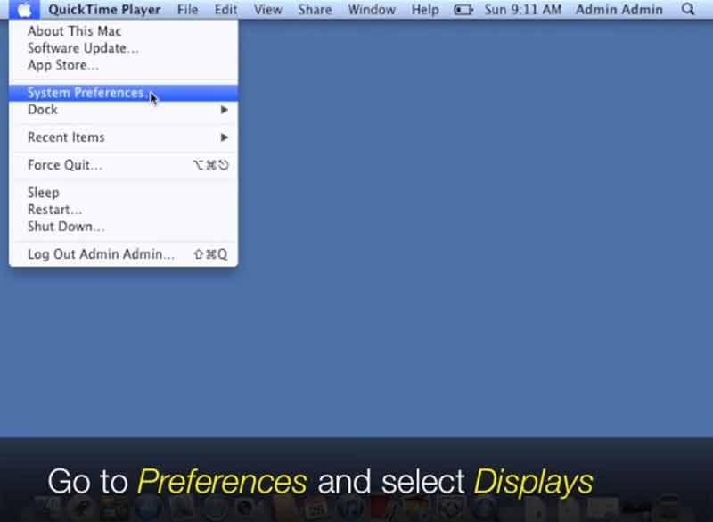 Apple display preferences