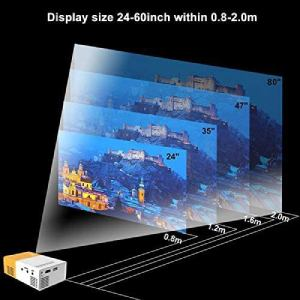 Meer Portable Projector variable display