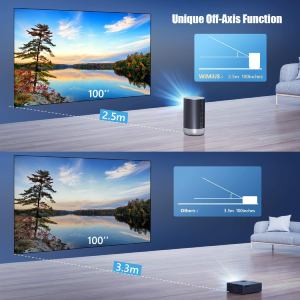 WiMiUS Q1 Mini Projector axis funtion