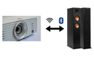 connect bluetooth speaker to projector - step by step process