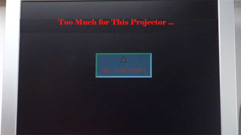 projector resolution problem