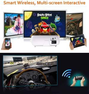 Gzunelic Real 8000 Lumens Smart WiFi Bluetooth Projector