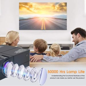 SWZA 4000 Lux Mini Movie Projector