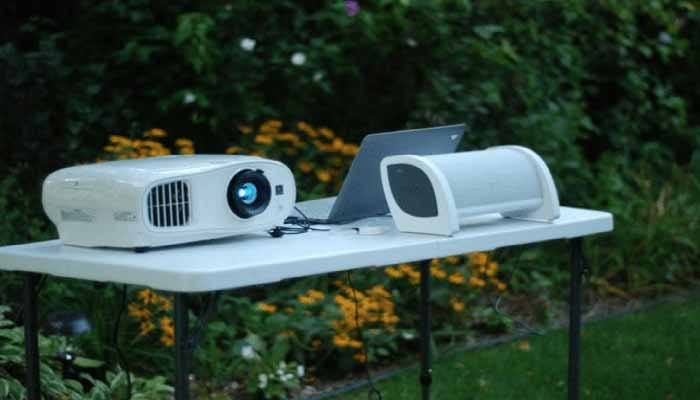 Get projectors and speakers