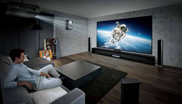 What about audio when using a projector for a home theatre replacing TV?