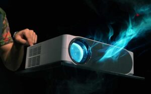 Projectors Emit Blue Light