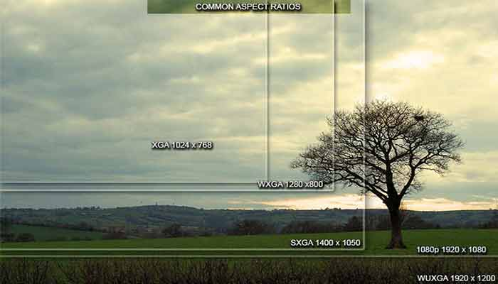 What is the projector aspect ratio?