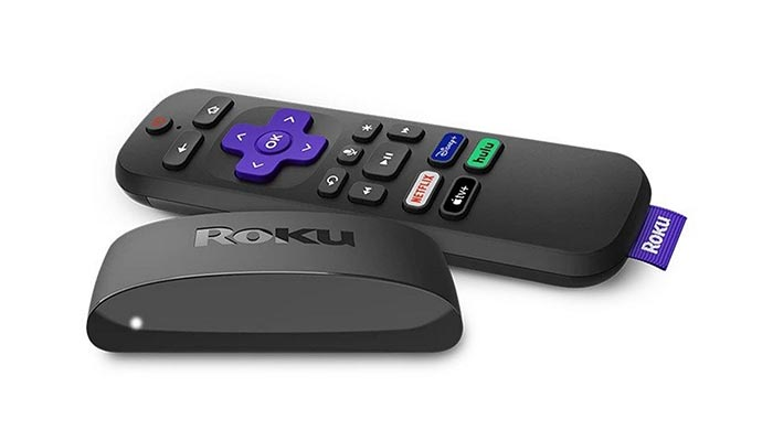 Connect Roku to the projector and set up with Sound Bar or AVR