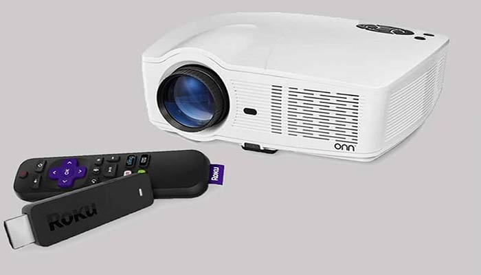 How to connect Roku stick to a projector?