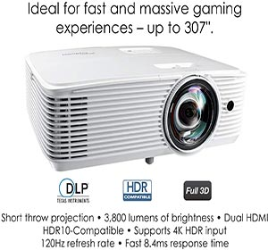 Optoma GT1080HDR High 3800 lumens Projector