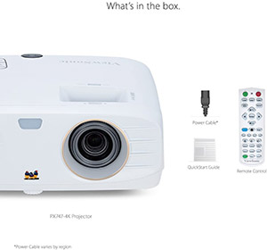 ViewSonic True 4K Projector with 3500 Lumens HDR Support