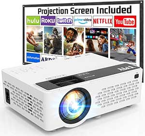 TMY Projector with 100 Inch Projector Screen