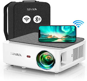 YABER V6 WiFi Bluetooth Projector 9000L Upgrade Full HD Native 1920×1080P Projector